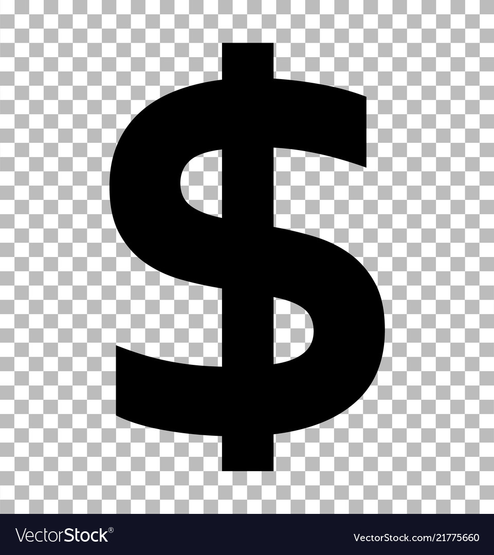 Dollar sign isolated on transparent background