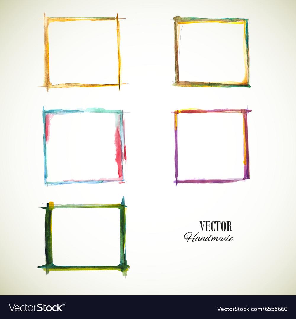 Frame Set Watercolor vector image