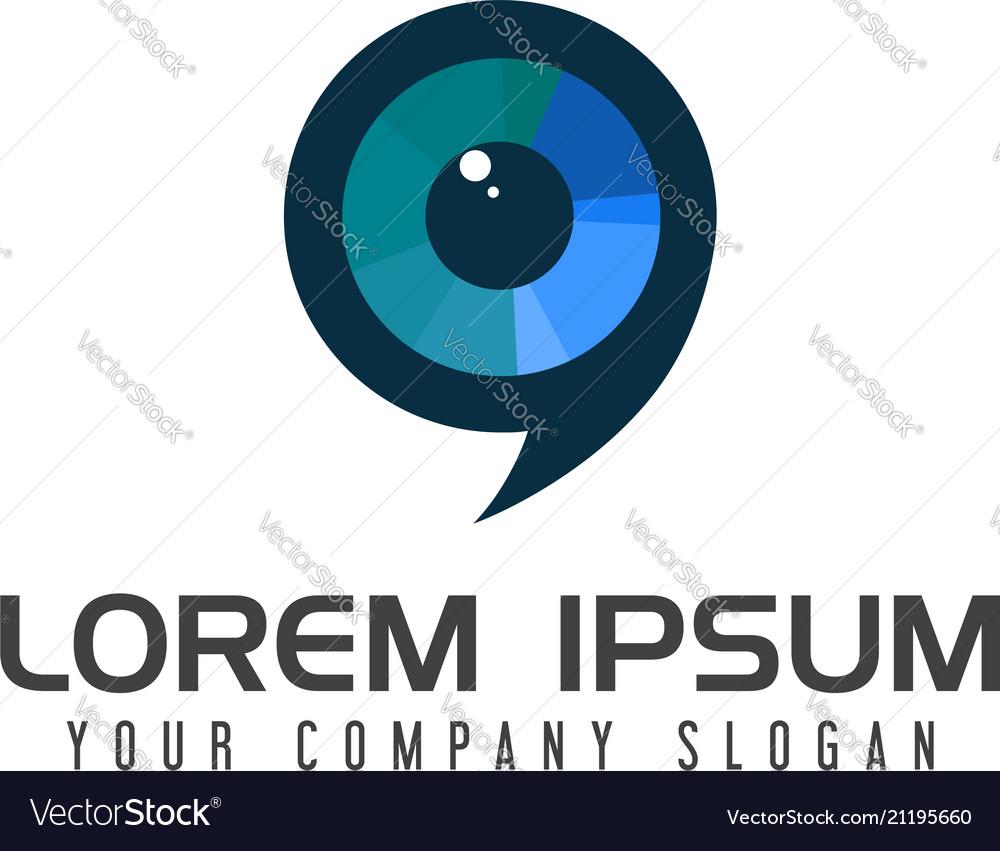 Lens media logo design concept template