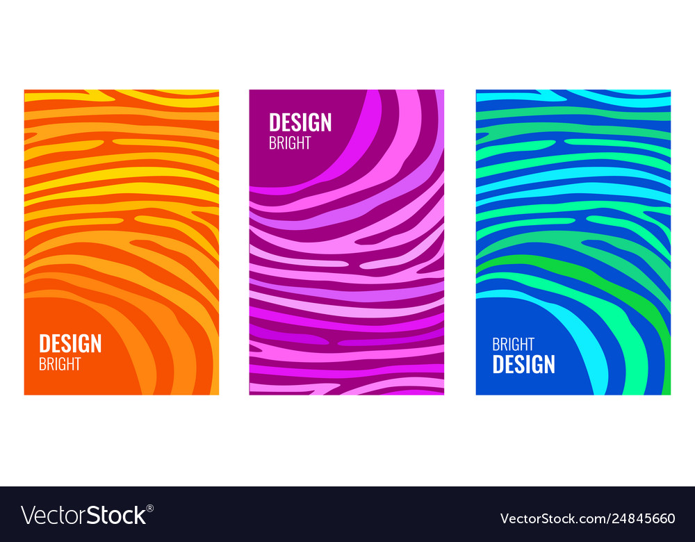 Set bright vertical abstract cover color strips