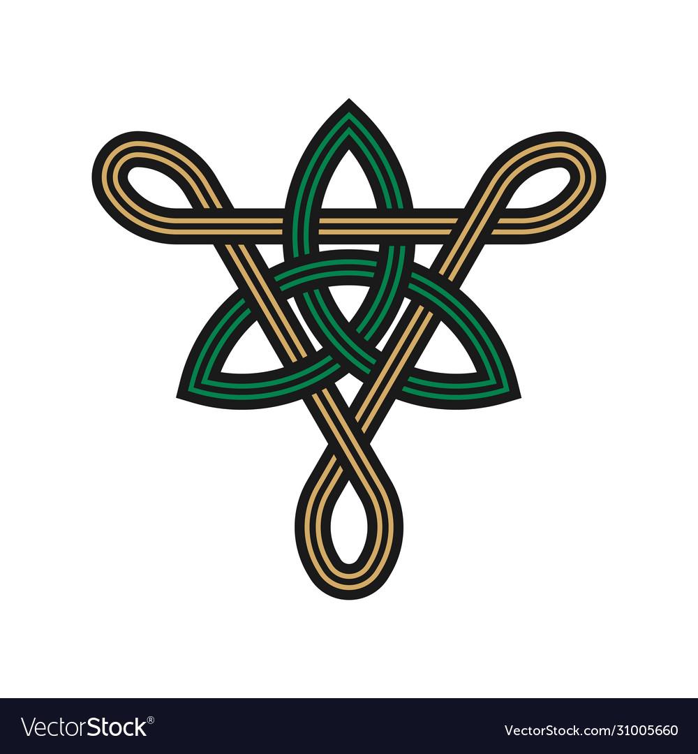 Triangle trinity knot symbols