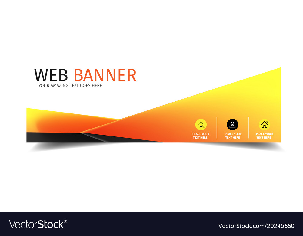 web banner triangle modern design background vector image