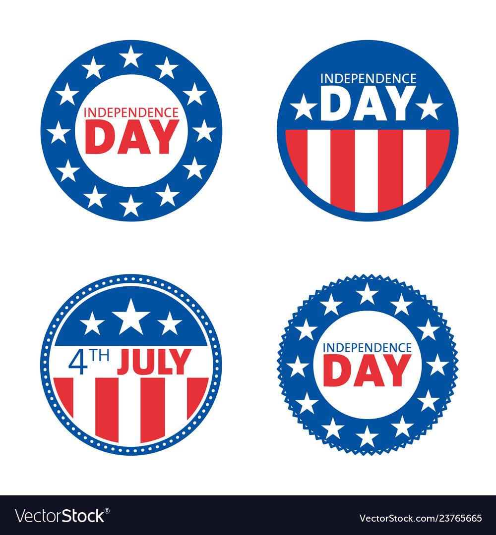 American independence day label design set