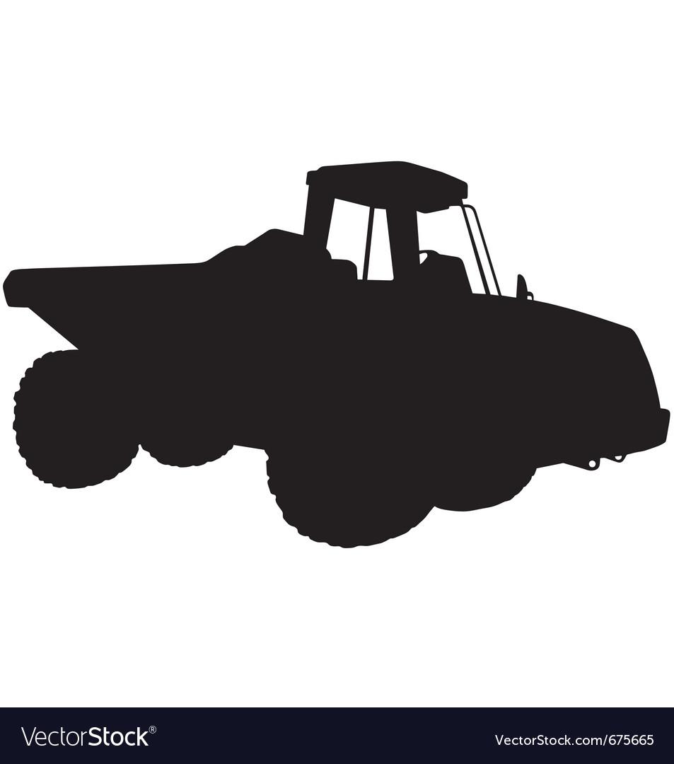 Articulated dumper truck silhouette