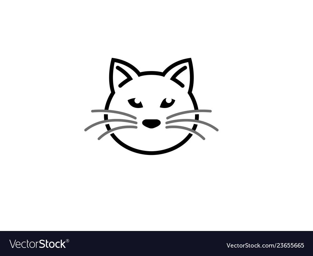 Cat head and face logo design