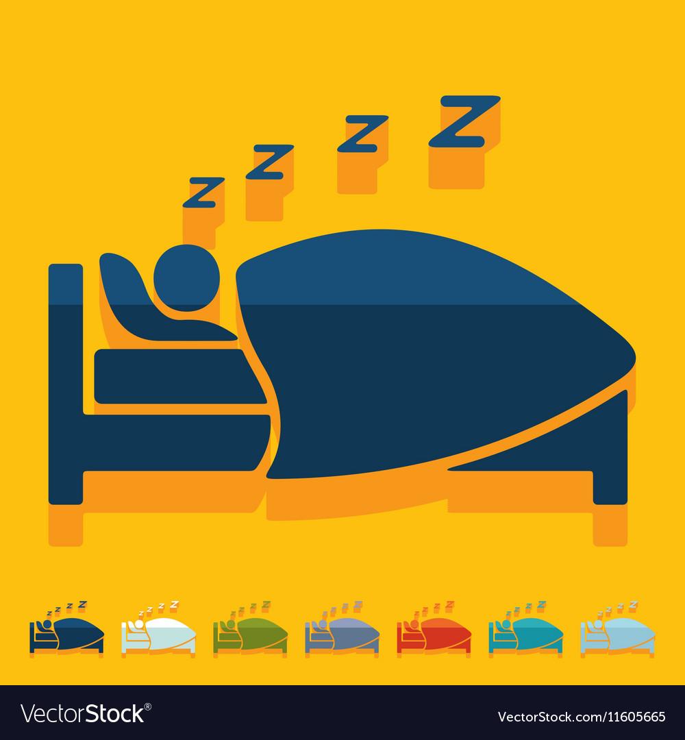 Flat design sleep