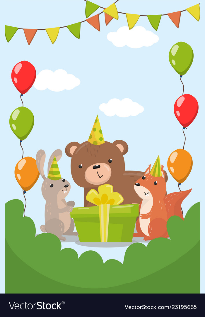 Happy birthday party invitation with date flyer