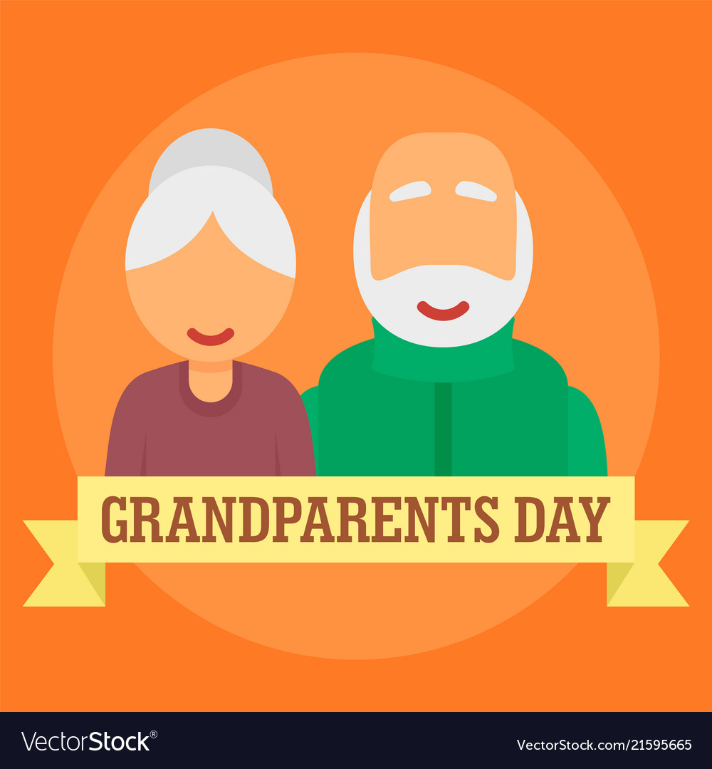 International day of grandparents background flat