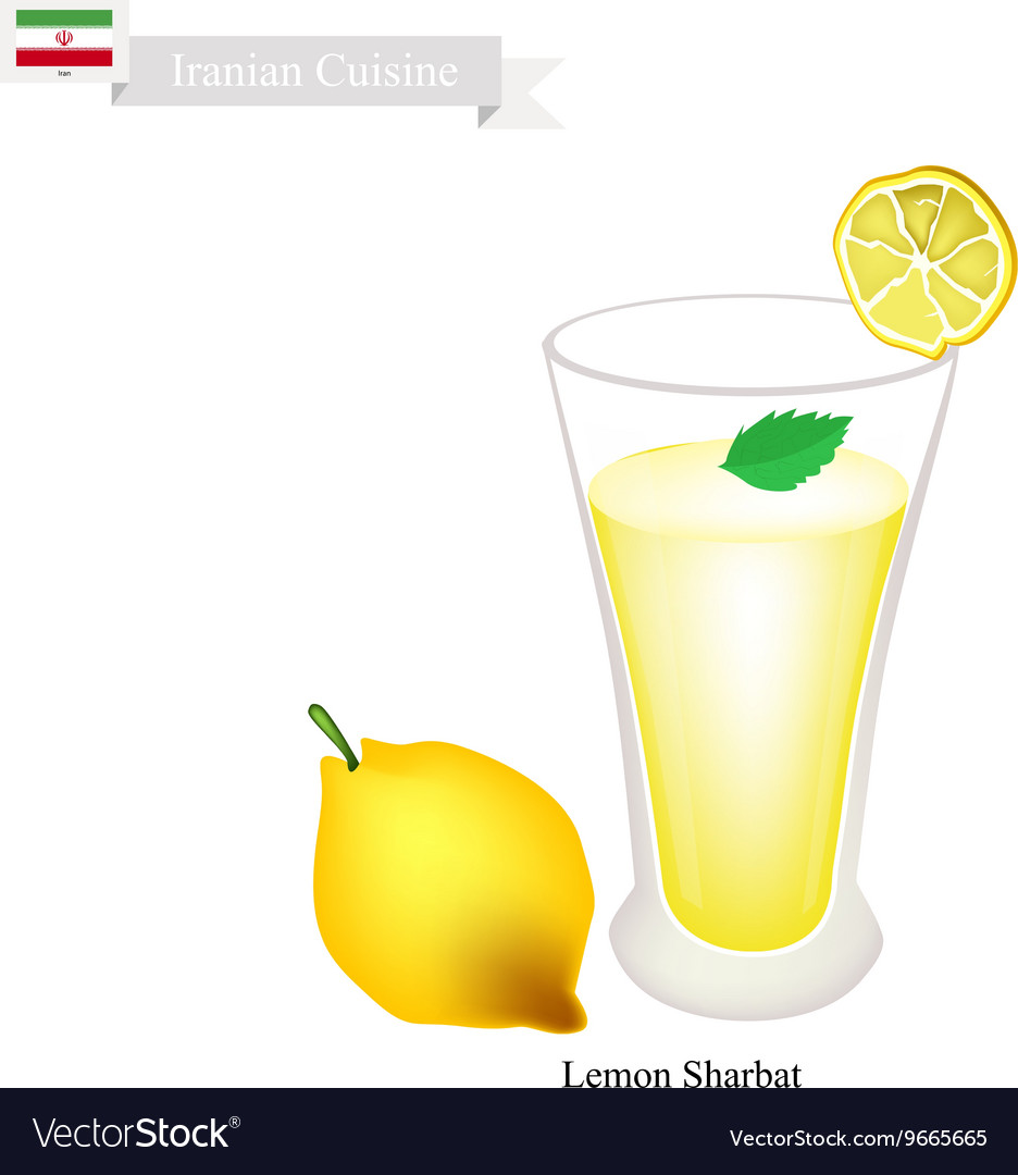 Lemon Sharbat or Iranian Drink From Lemon vector image