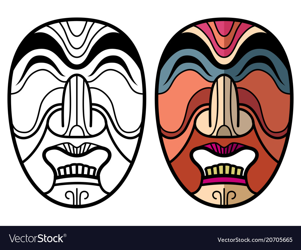 mexican indian aztec traditional masks royalty free vector