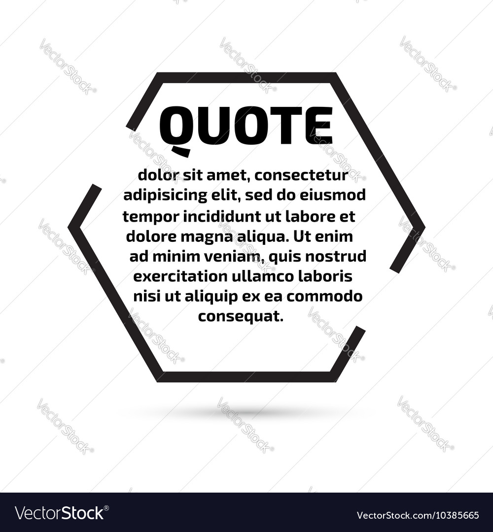 quote text bubble template set royalty free vector image