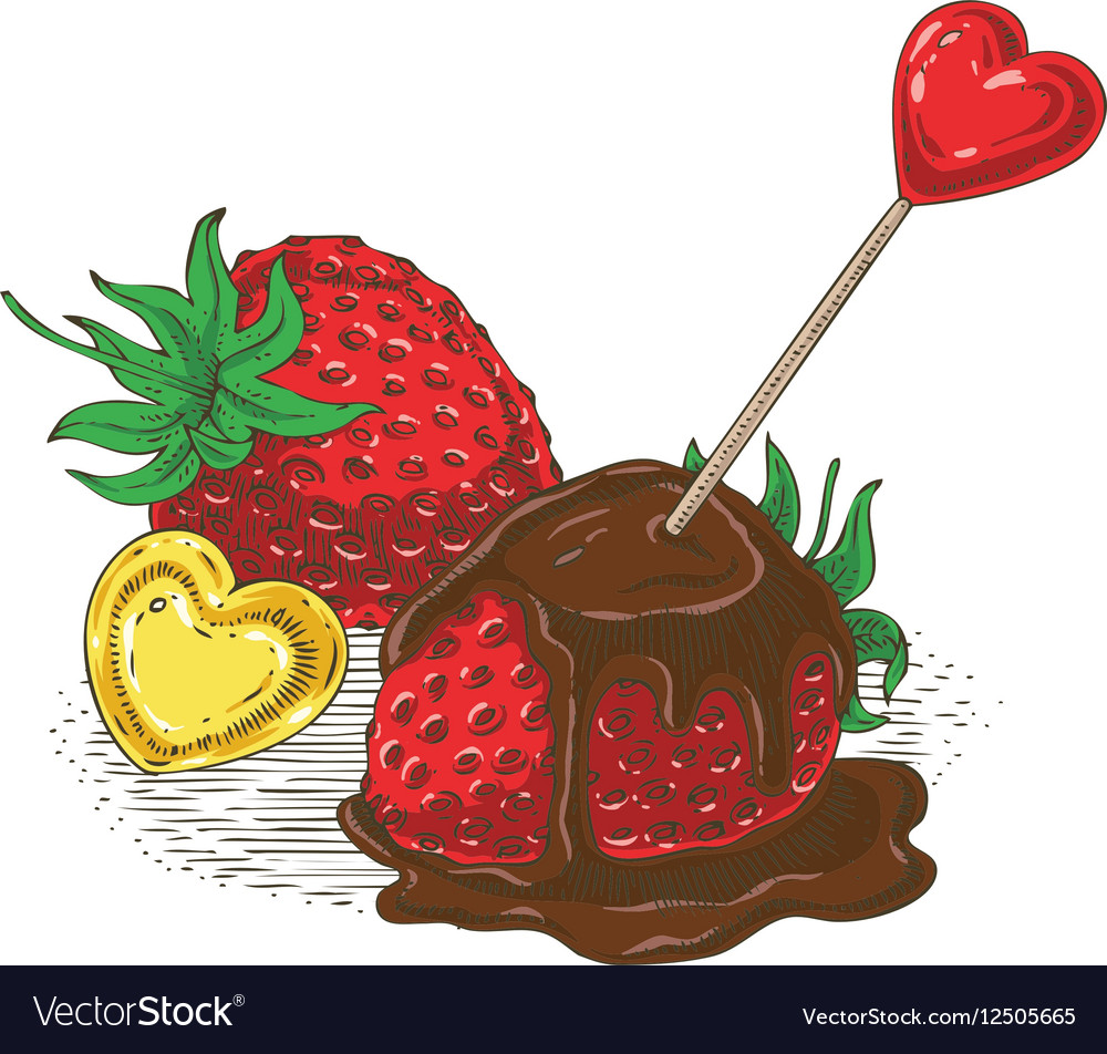 Ripe Red Chocolate Covered Strawberry
