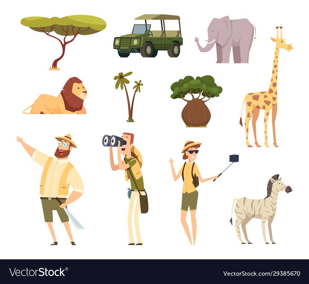 African safari wildlife animals travel car kenya