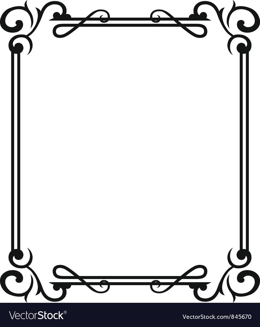 Blank frames Royalty Free Vector Image - VectorStock