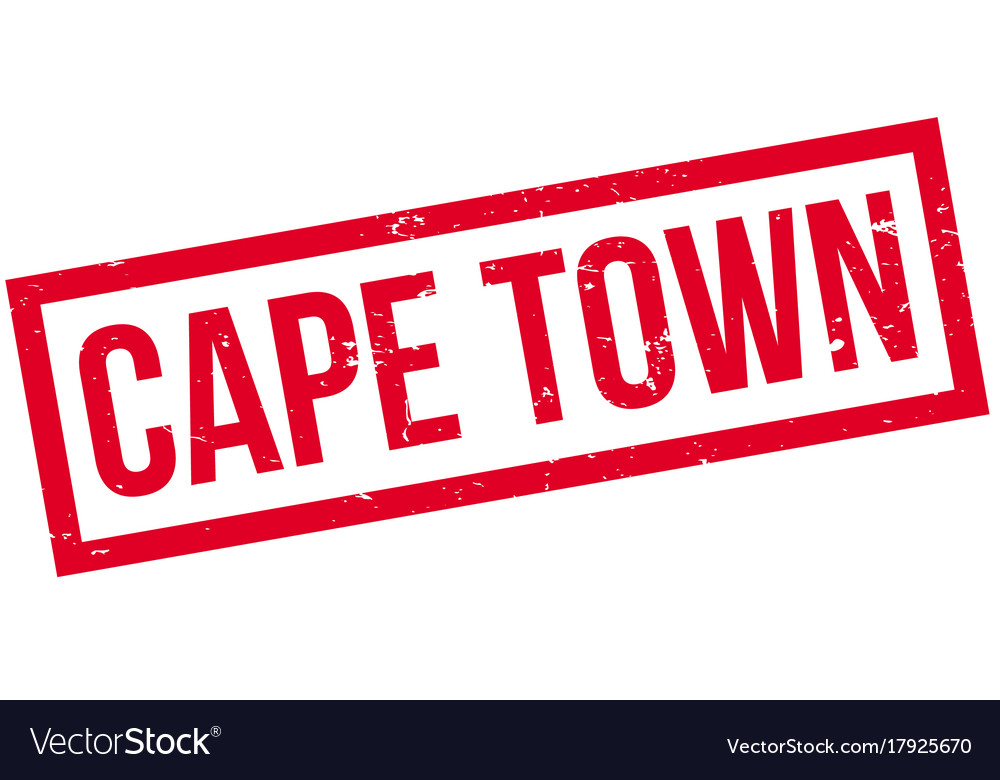 Cape town rubber stamp vector image on VectorStock