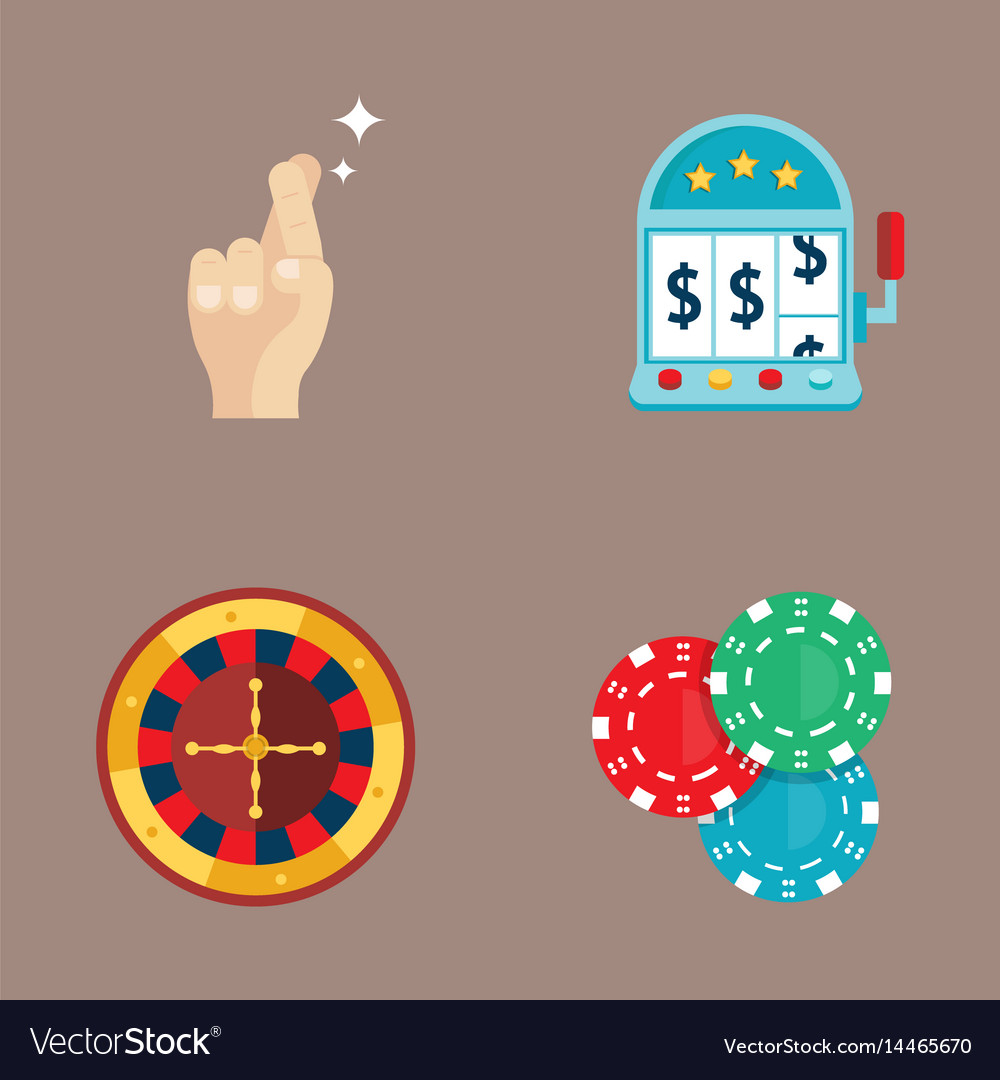 Casino game poker gambler symbols blackjack cards
