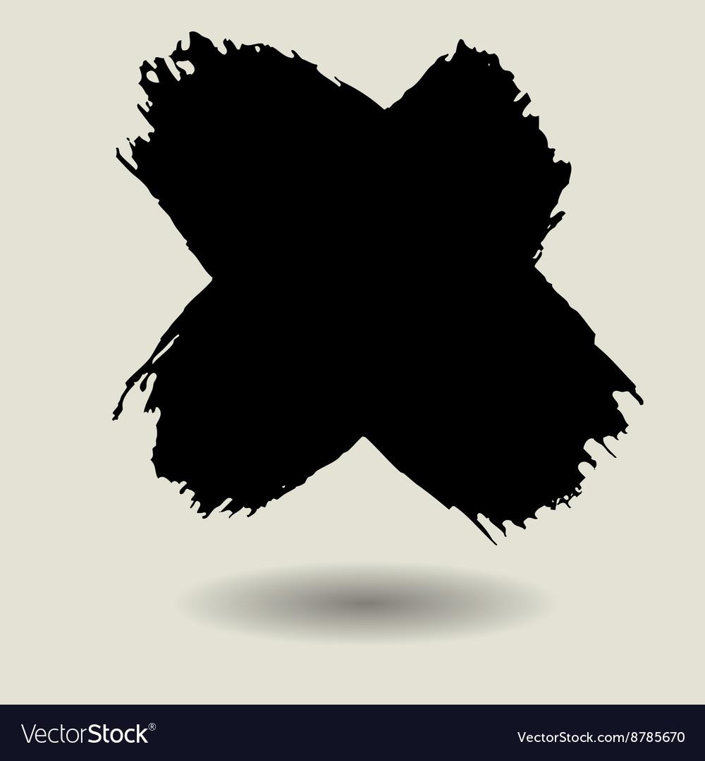 Cross brush texture background vector image