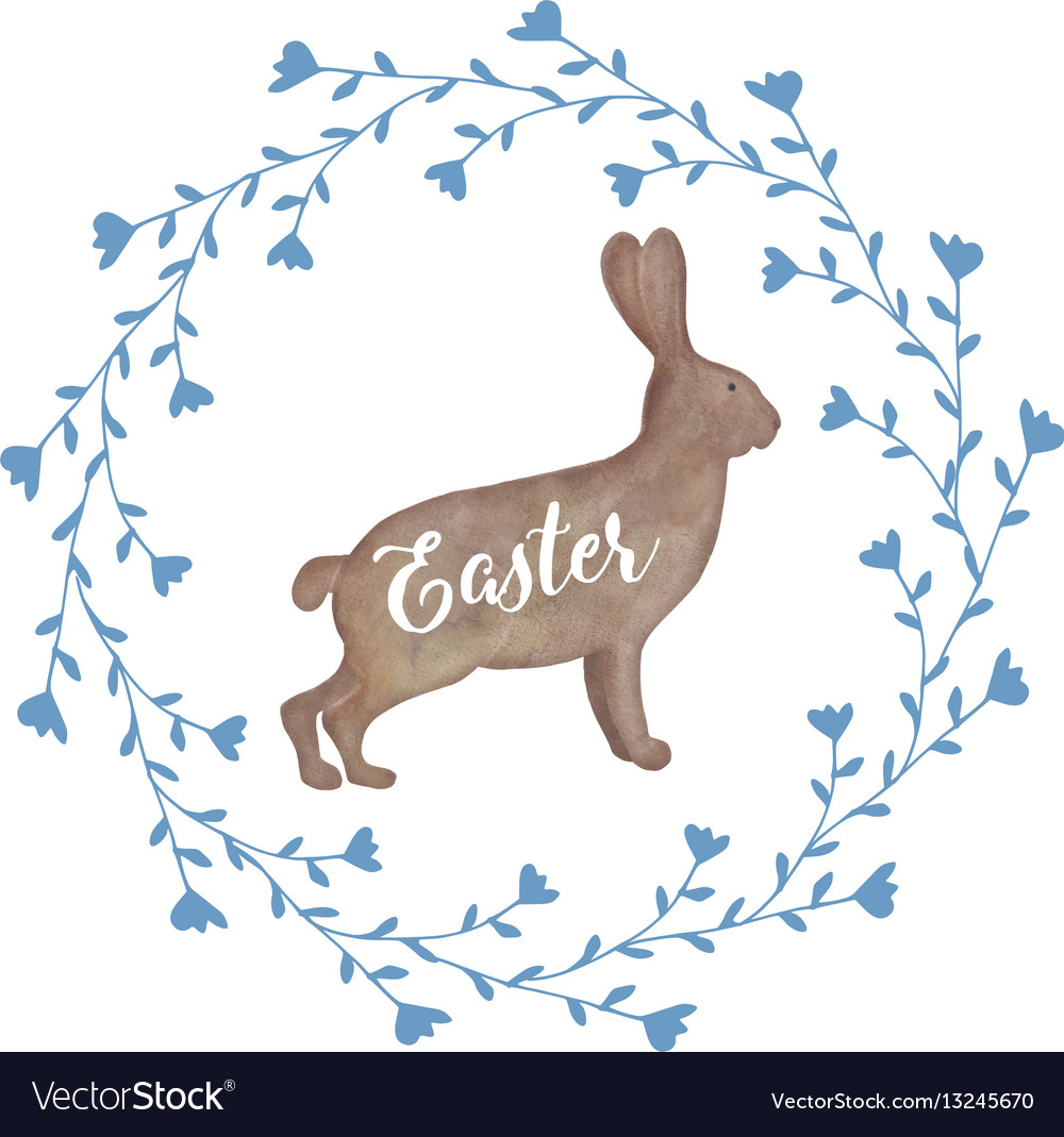 Cute easter greeting card invitation with