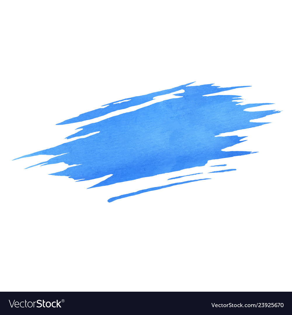 Hand painted blue watercolor brush texture