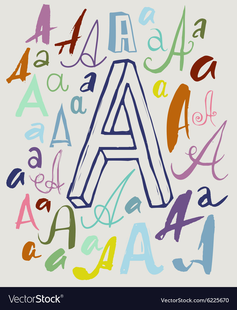 Letter A In Different Styles Royalty Free Vector Image