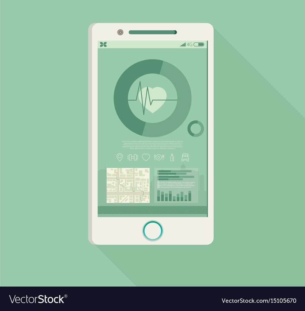 Phone with fitness application for health