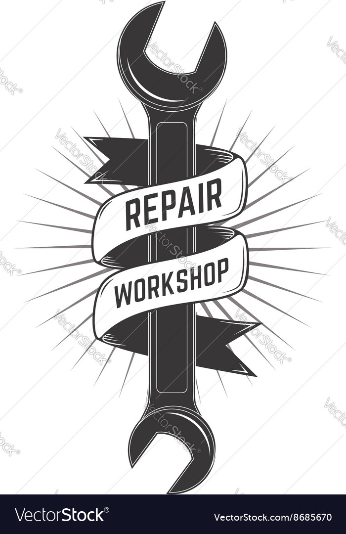Repair workshop label