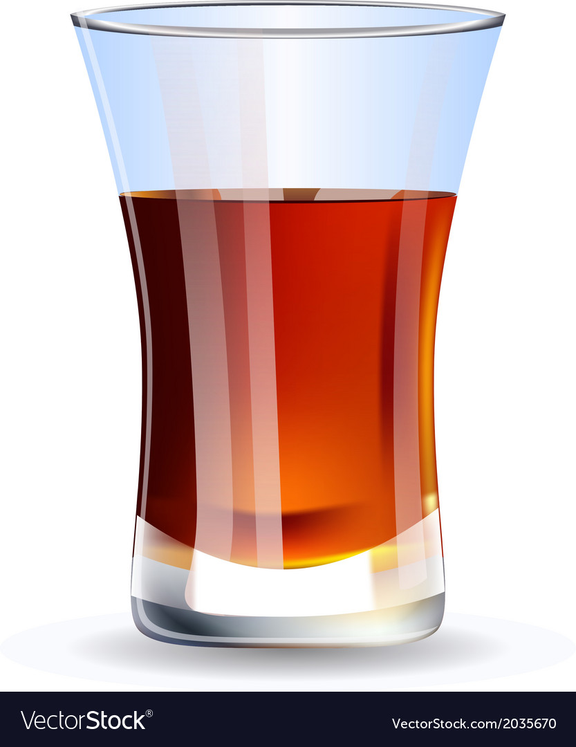 Shot of whiskey isolated on white background vector image