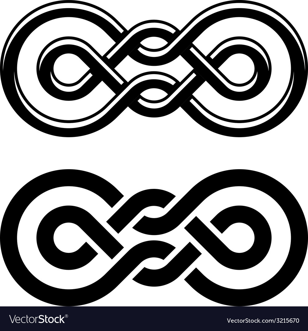 Unity Knot Black White Symbol Royalty Free Vector Image