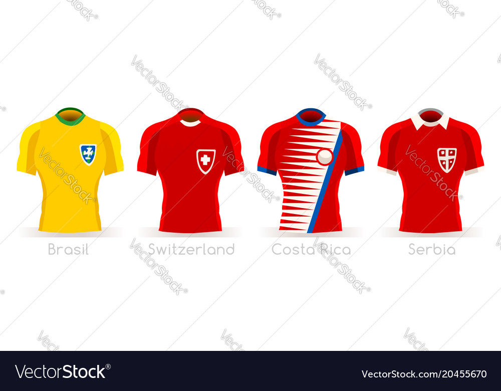 4360ec898da World cup group e team uniform Royalty Free Vector Image