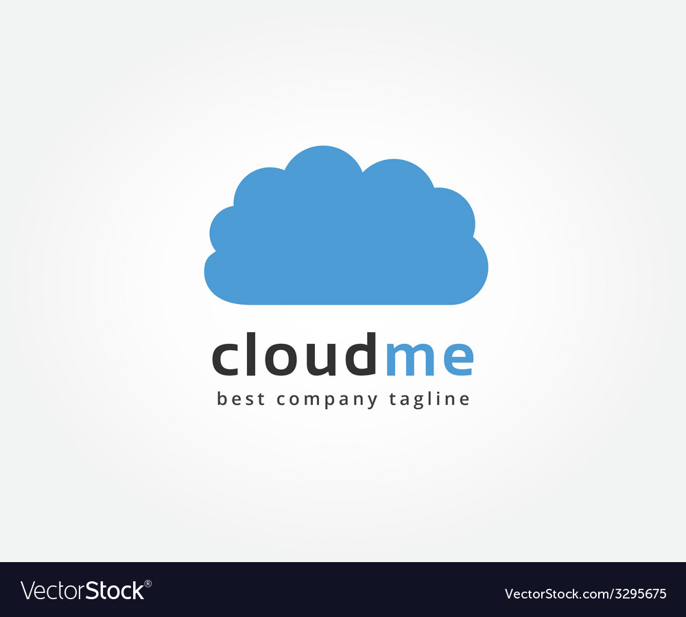 Abstract cloud storage logo icon concept Logotype vector image
