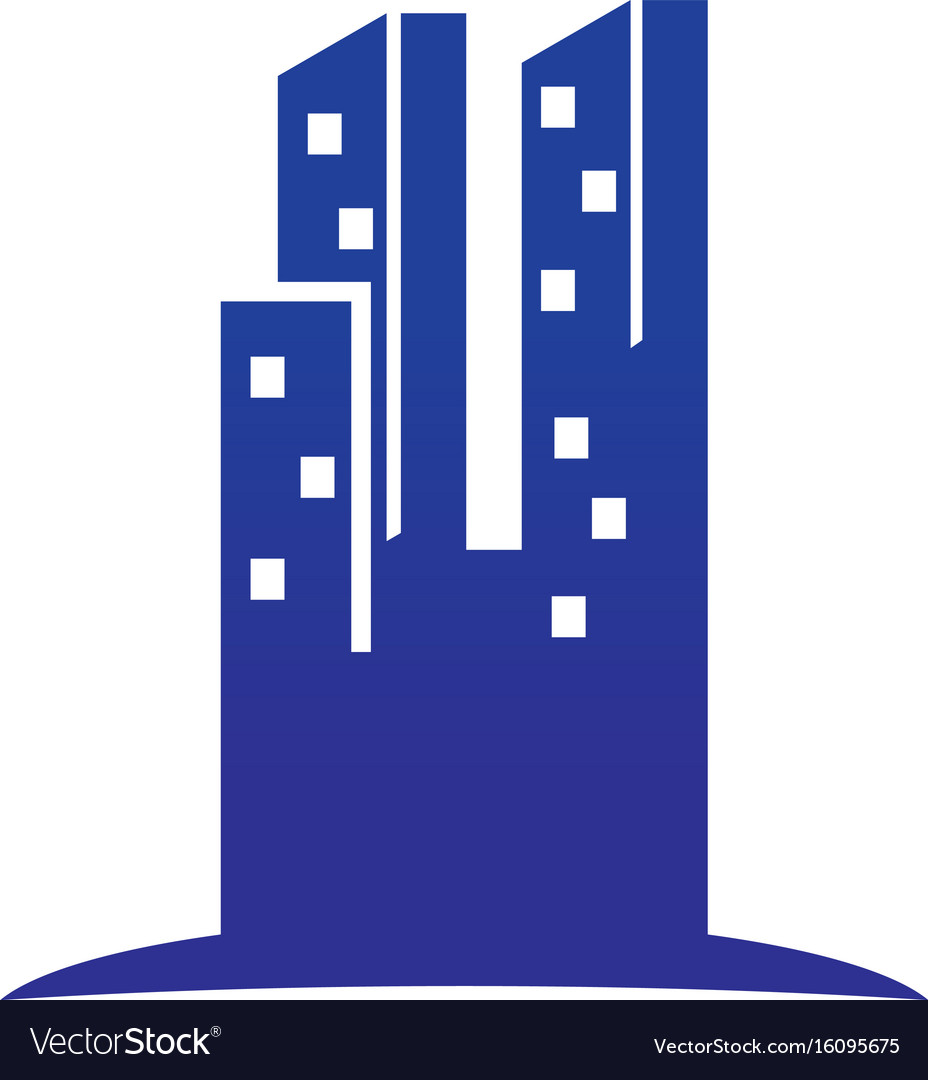 Abstract skyscrapercity building logo