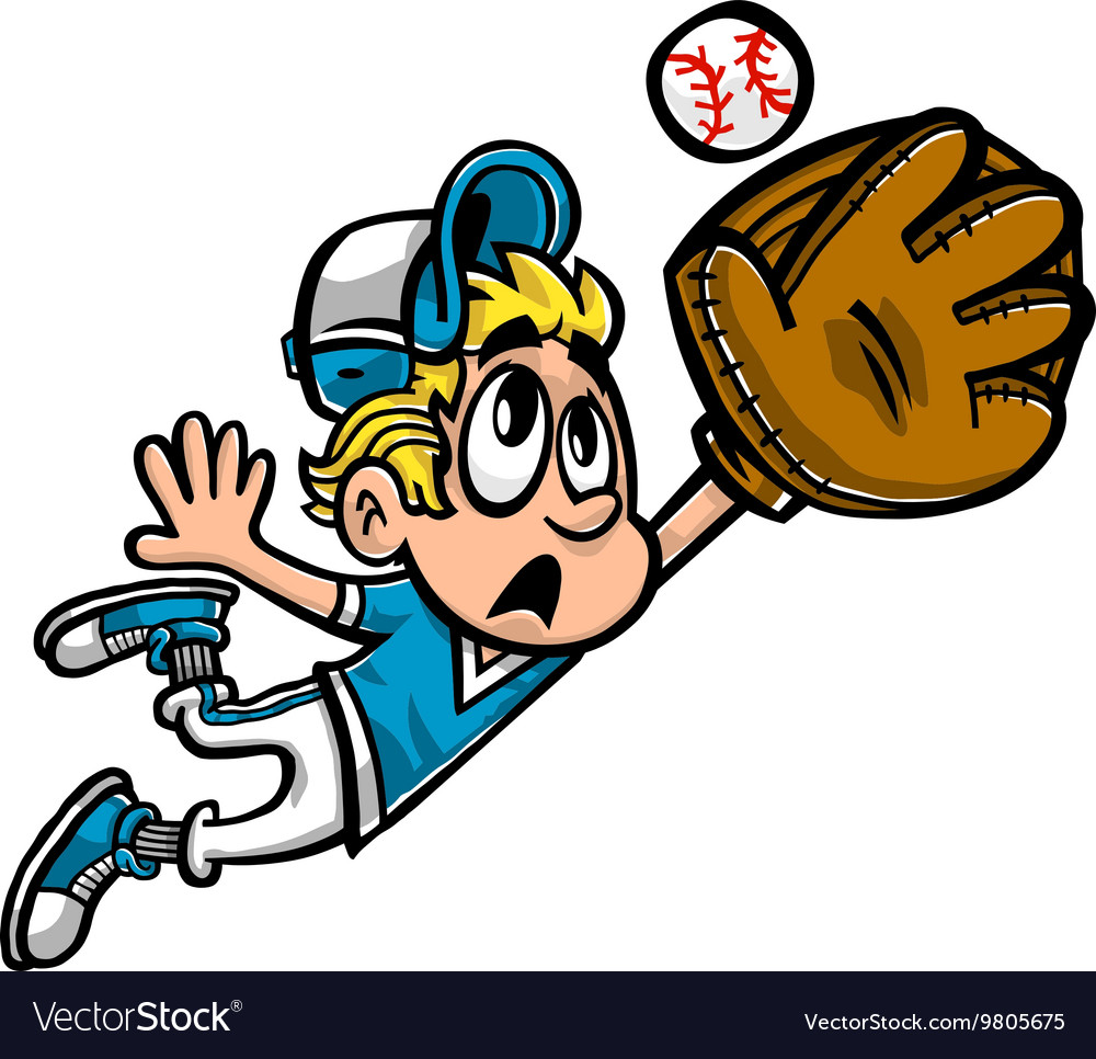 Baseball Player Kid cartoon