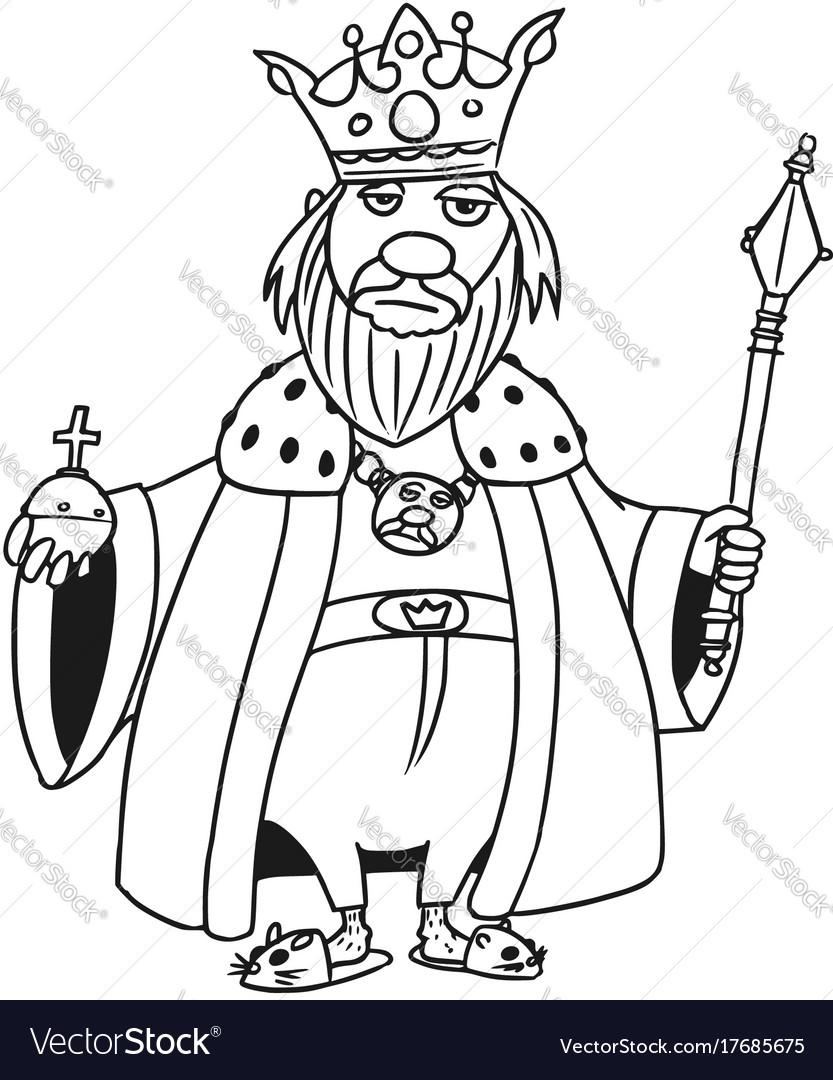 Cartoon Medieval Fantasy King