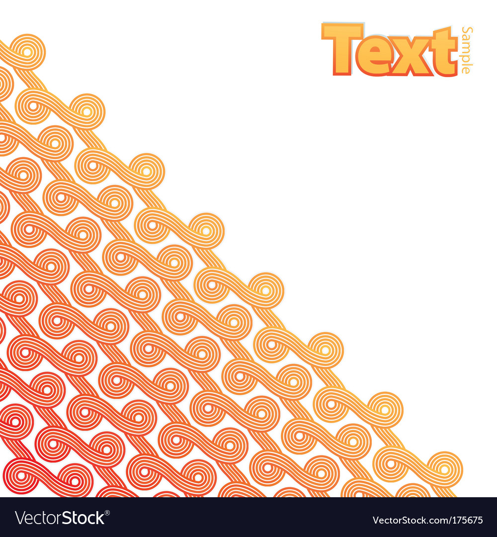 Curly ribbons pattern corner design vector image