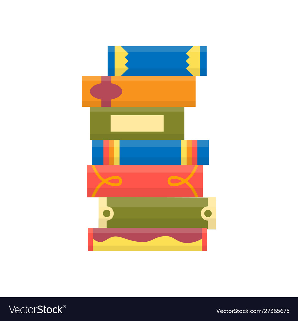 Stack books on a white background pile of