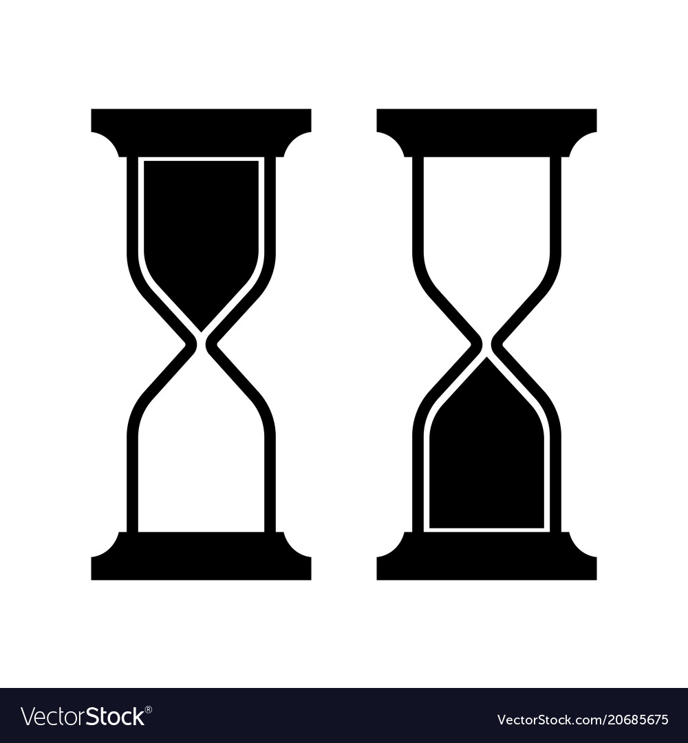symbolic image of an hourglass royalty free vector image rh vectorstock com hourglass vector icon hourglass vector image