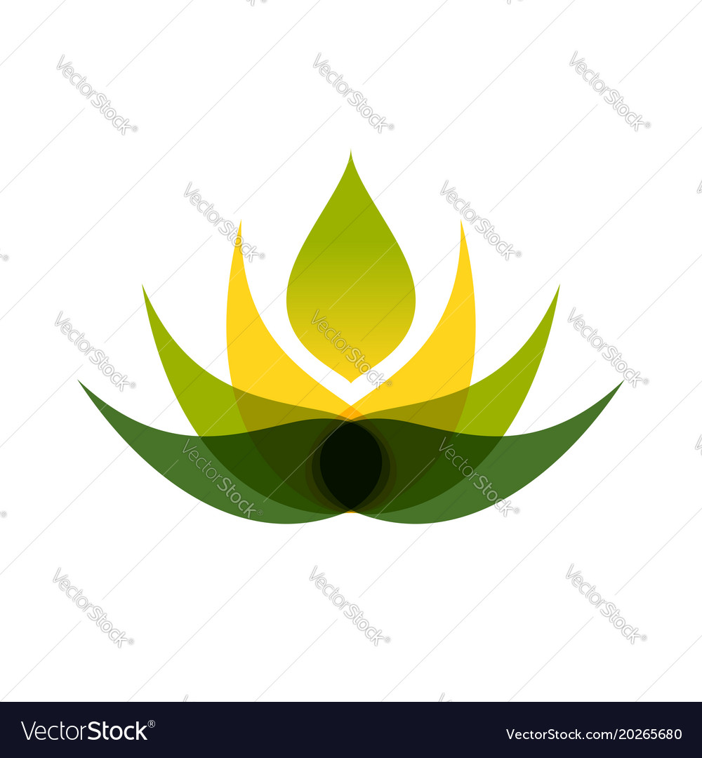 Abstract Multiply Lotus Flower Symbol Logo Design Vector Image