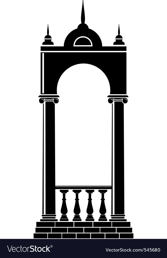 Arch with balustrade