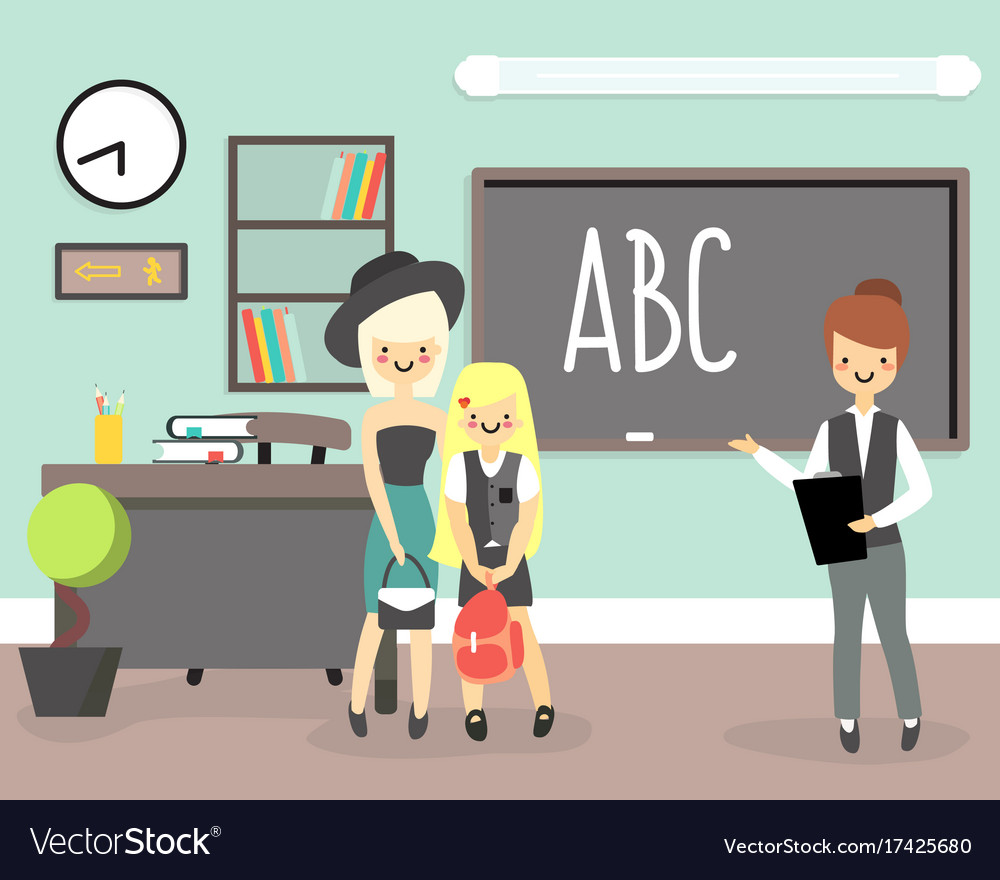 Back to school concept in flat