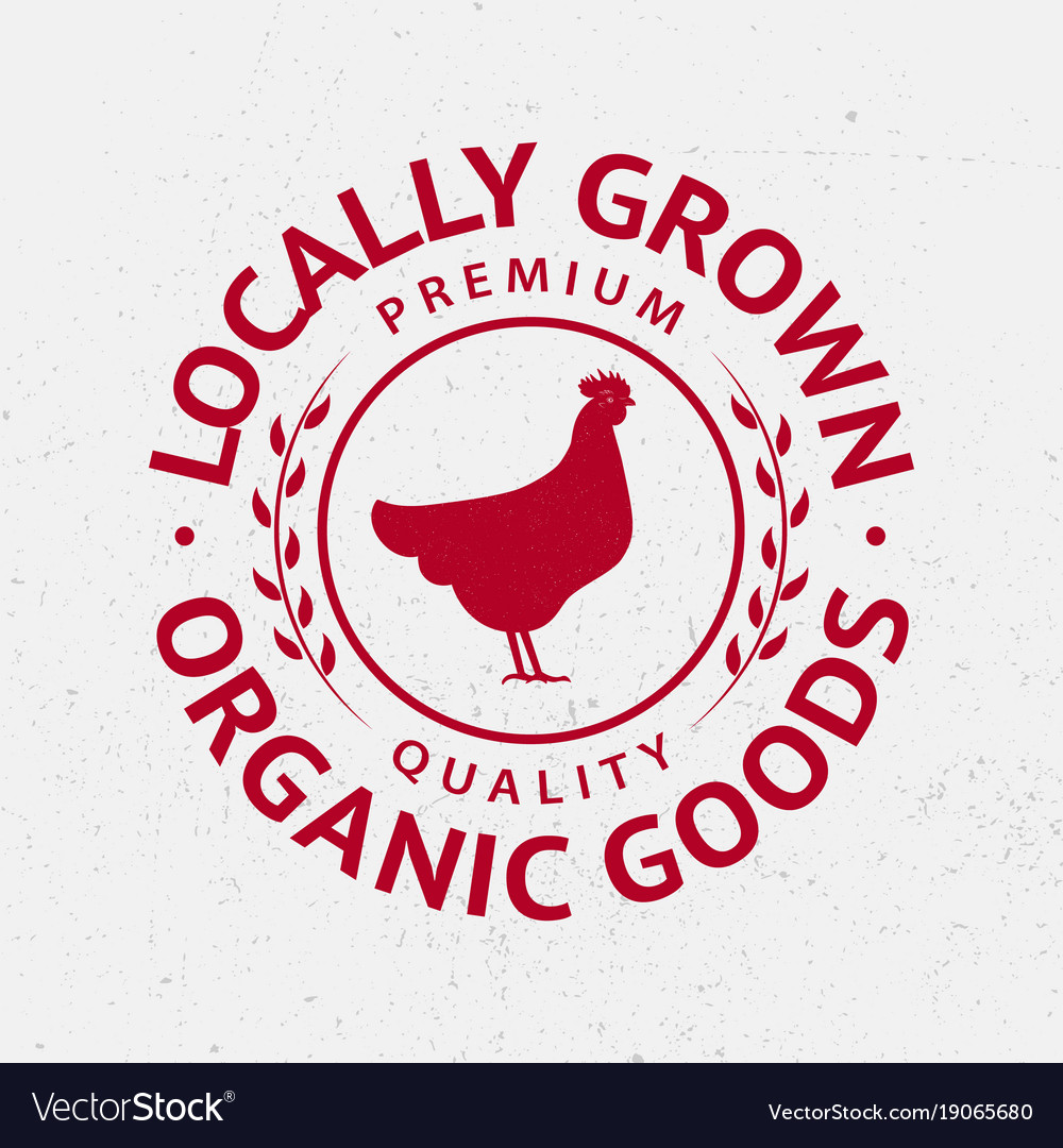 Chicken silhouette logo label badge emblem