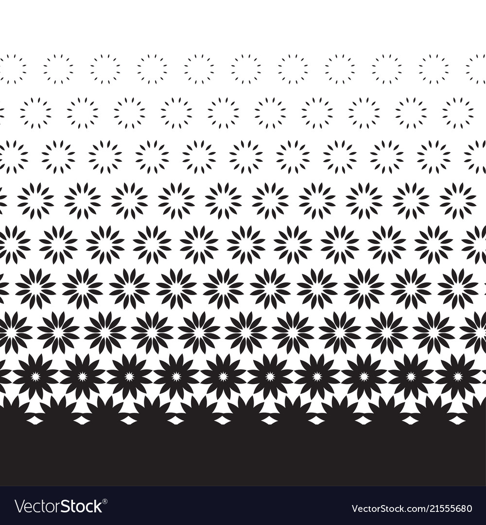 Geometric degrade motif in white and black vector image