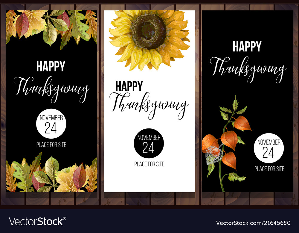 Happy thanksgiving poster in minimalistic style