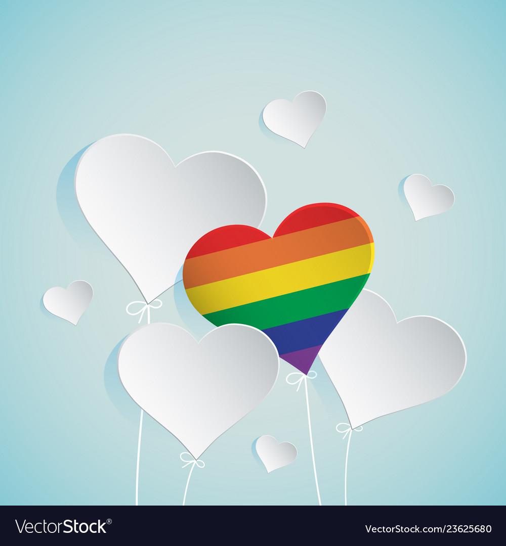 Heart balloon for lgbt