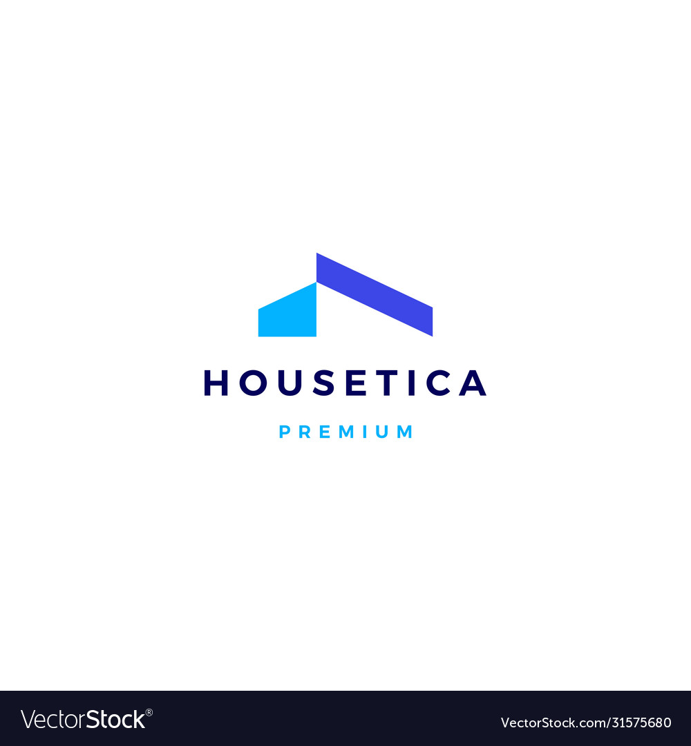 House home mortgage roof architect logo icon