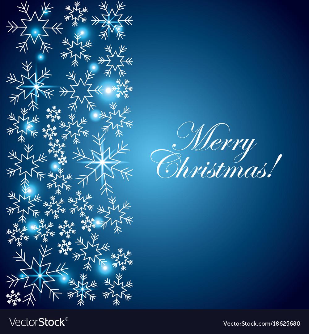 Merry Christmas Lights.Merry Christmas Blue Card Snowflake Lights