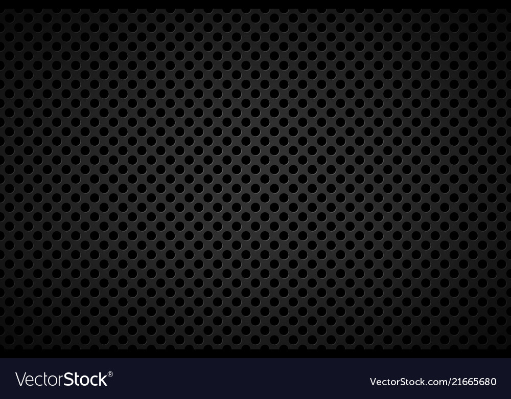 Perforated black metallic background abstract