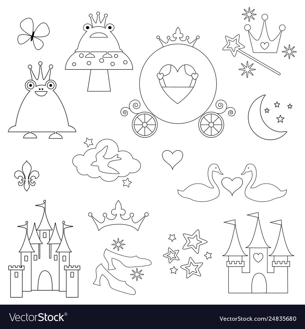 Princess digital stamps