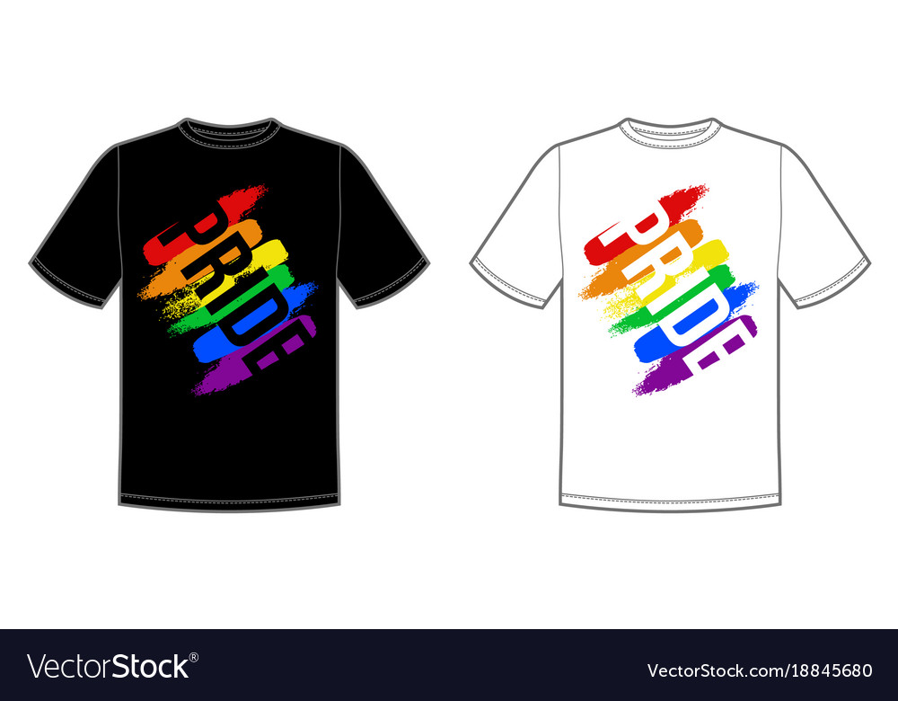 Print for t-shirt with pride lgbt bright