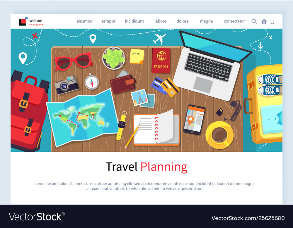 Time to travel preparation for vacation website
