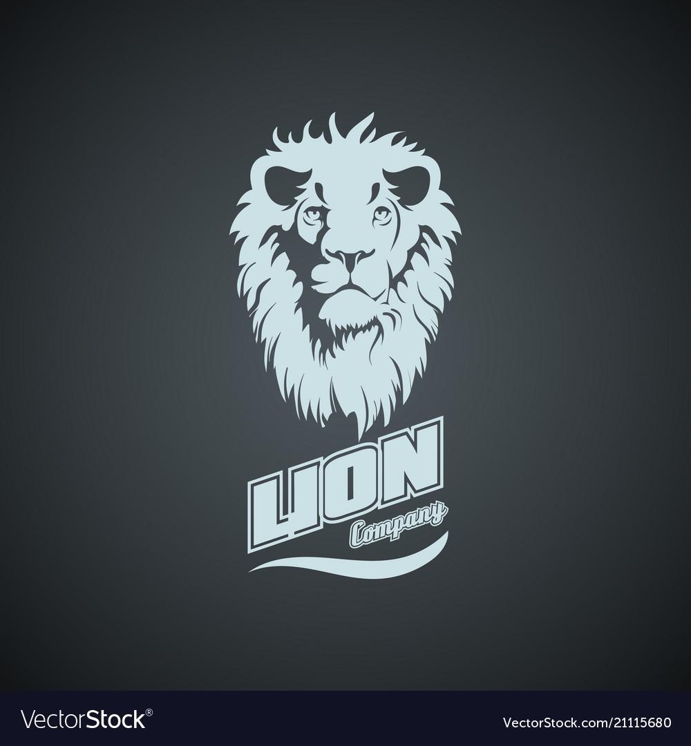 Vintage retro logo with lion